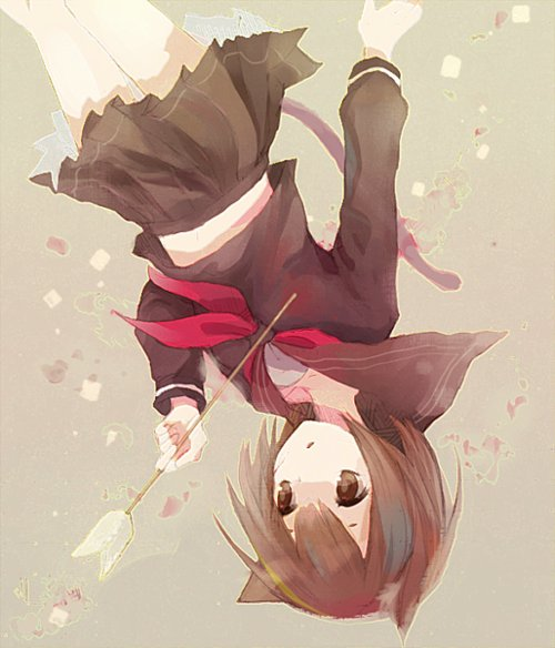 anime, art, cute, cute girl, fox