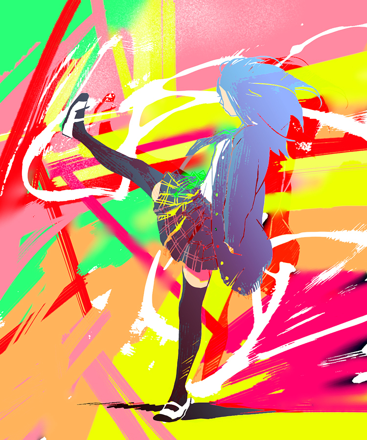 anime, awesome, colorful, colors, kick