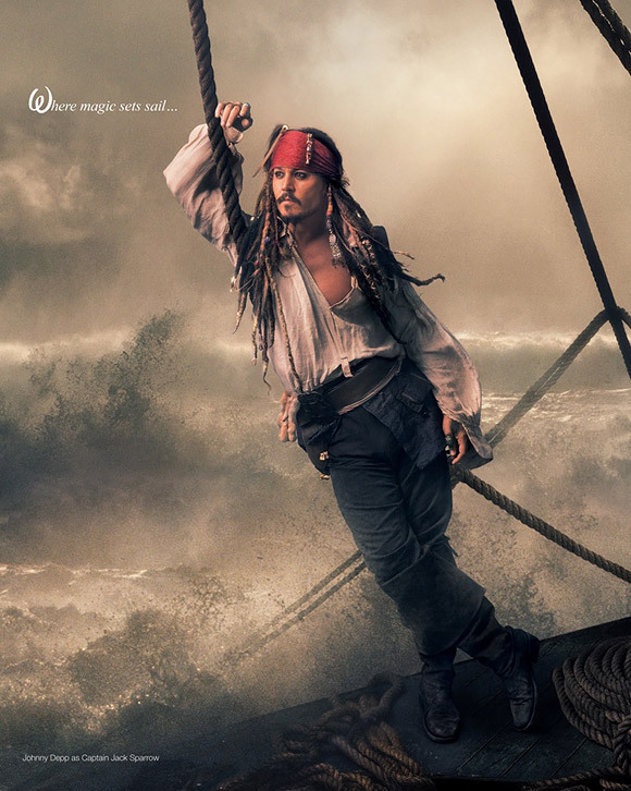 annie leibovitz, jack sparrow, johnny depp, the pirates of carribean