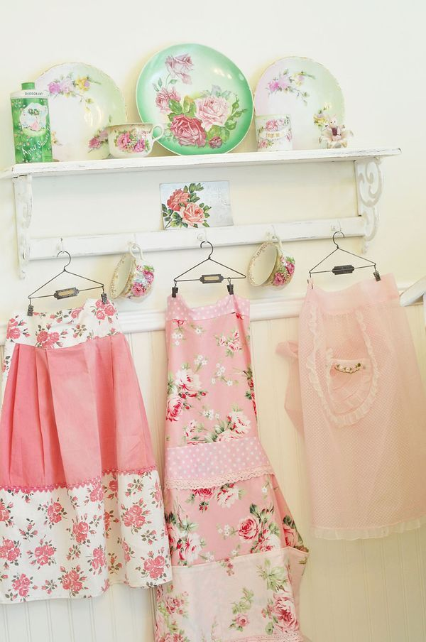 aprons, cute, floral, flowers, frilly