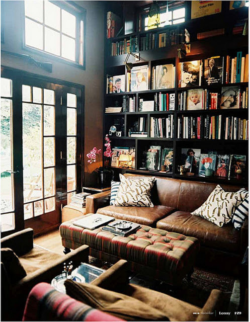 architecture, beautiful, books, dream, house, shelves