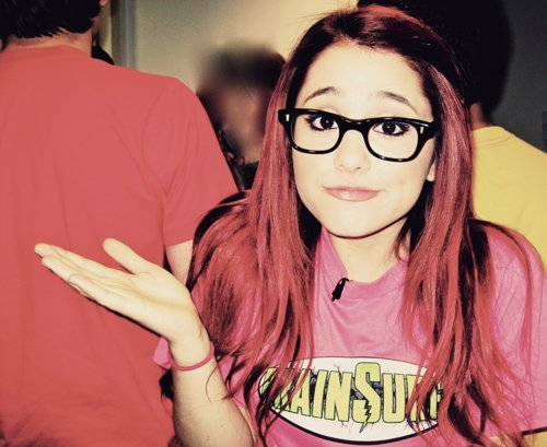 ariana, ariana grande, beautiful, brainsurge, glasses, gorgeous, grande, nerd, photo, pretty, red hair