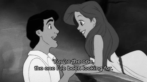 ariel, beach, black and white, disney, eric, love, one, princess, the little mermaid