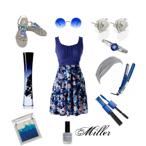 armani code, art, blue, clothes, dress, earrings, fashion, flowers, grey, lennon, lennons, miller, nail, rose, shoes, summer, sun, sunglasses, watch