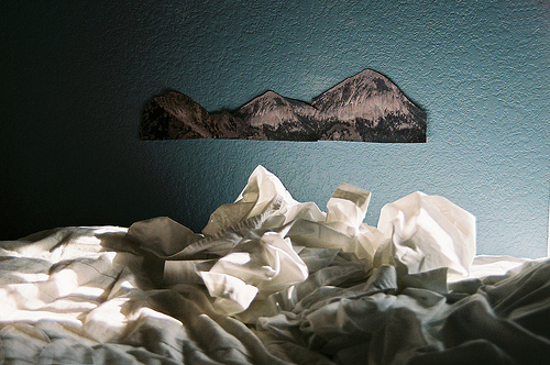 art, beautiful, bed, comfortable, cool, hipster, indie, morning, paper, photo, photography, sleep, unmade