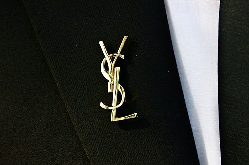 art, beautiful, black, brooch, cute, fashion, french, gold, nice, photo, photography, pretty, vintage, white, ysl, yves saint laurent