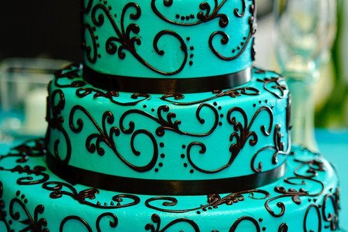art, big cake, black, blue, cake