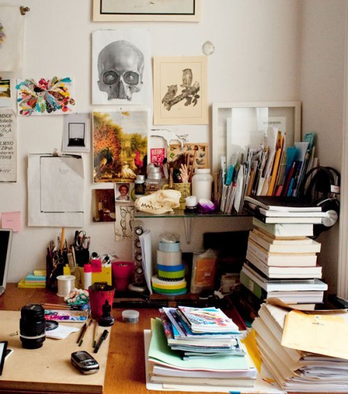 art, books, drawing, mess, room