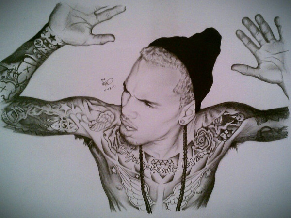 art, chris brown, drawing