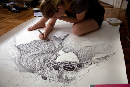 art, draw, drawing, girl, illustration