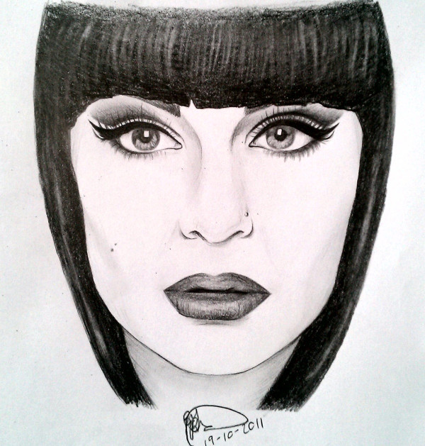 art, drawing, jessie j