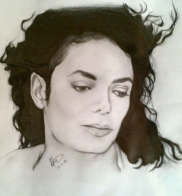 art, drawing, michael jackson