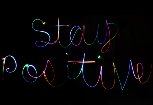 art, light painting, photography, rainbow, stay positive
