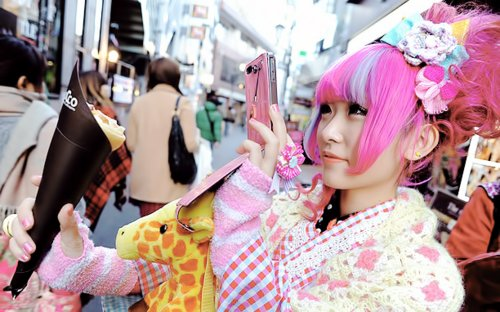 asian girl, crepe, cute, fairy kei, japan, kawaii, lolita, pink hair