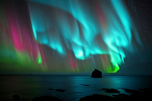 aurora borealis, color, colourful, colours, nature