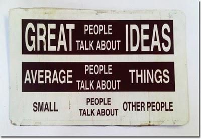 average, great, ideas, life, otes, people, quote, quotes, small, talk, things