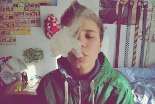 aww, bad boy, bedroom, boy, cute, guy, jay, piercing, plug, room, smoking