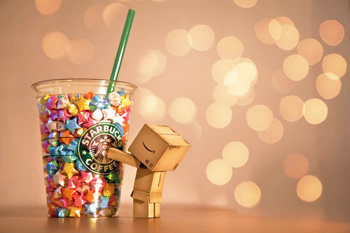 aww, bokeh, coffee, cute, starbucks