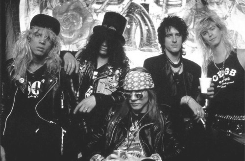 axl rose, black and white, duff mckagan, guns n roses, izzy stradlin