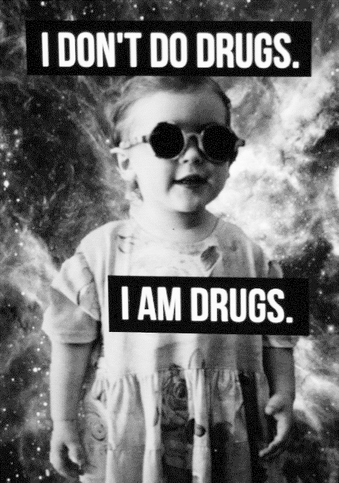 baby, black, drugs, funny, typography