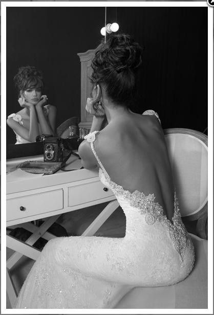 backless, beautiful, black and white, dress, marriage