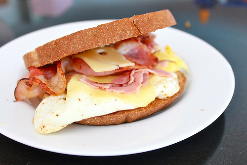 bacon, bread, breakfast, cheese, delicious