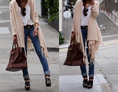 bag, beautiful, belt, cute, fashion, girl, hair, heels, jeans, outfit, pretty, sunglasses, sweater