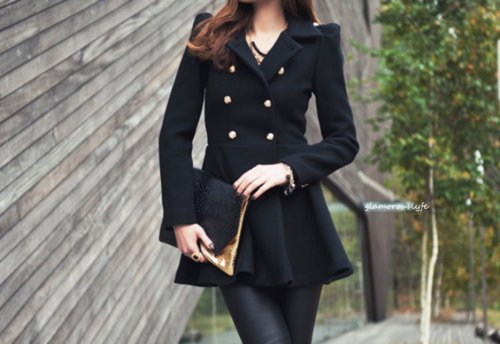 bag, beautiful, black, clothes, coat