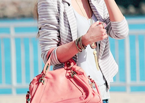 bag, bracelet, chain, fashion, girl, stripes