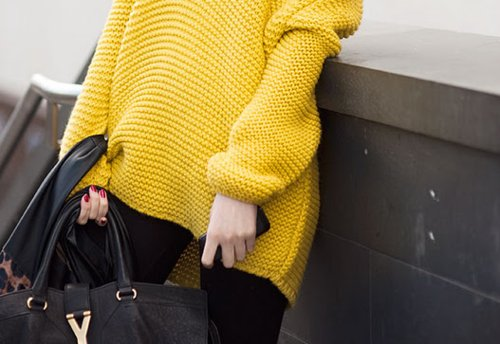 bag, fashion, style, sweater