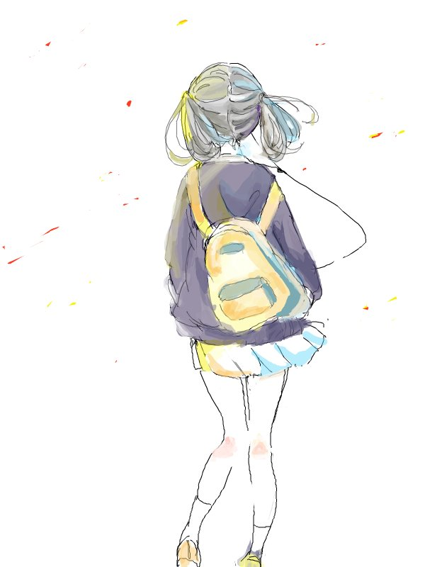 bag, girl, manga, rucksack, school