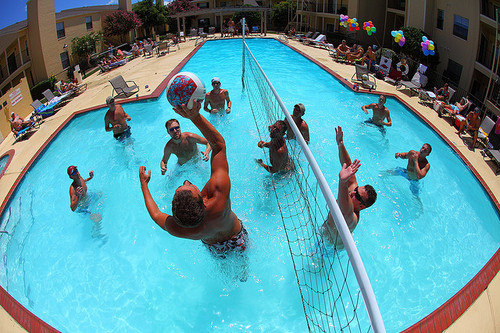 ball, beautiful, blue, boy, boys, cute, friend, friends, guy, guys, handsome, man, photo, photograph, photography, pool, volleyball, water