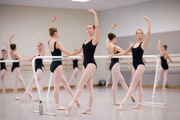 ballerinas, ballet, ballet buns, ballet class, dancers, girls, leotards, point shoes
