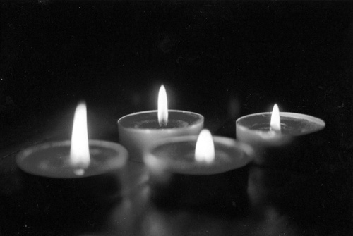 b&w, black & white, black and white, candle, candles, dark, darkness, light, lights, photo, photography