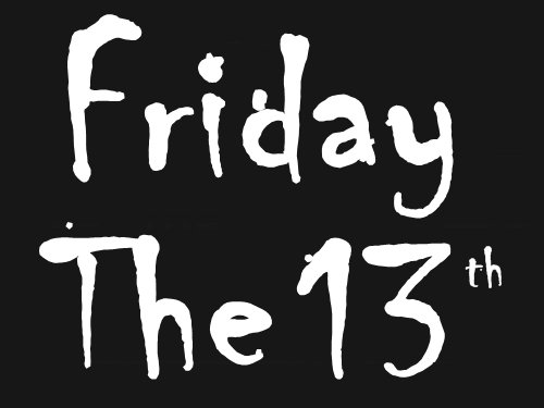 b&w, black and white, friday, friday 13, friday the 13