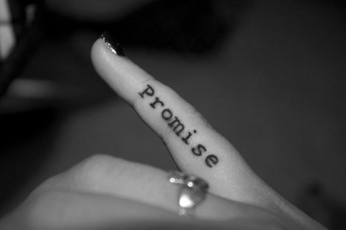 b&w, finger, for ever, promise, tattoo