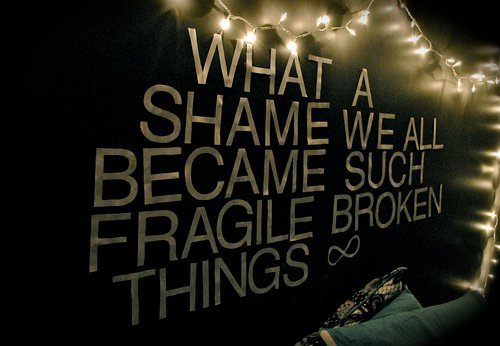 band, bedroom wall, light, lights, music, paramore, quote, quotes, room, song, wall