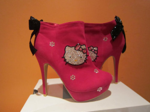barbie, bows, diamonds, heels, hello kitty