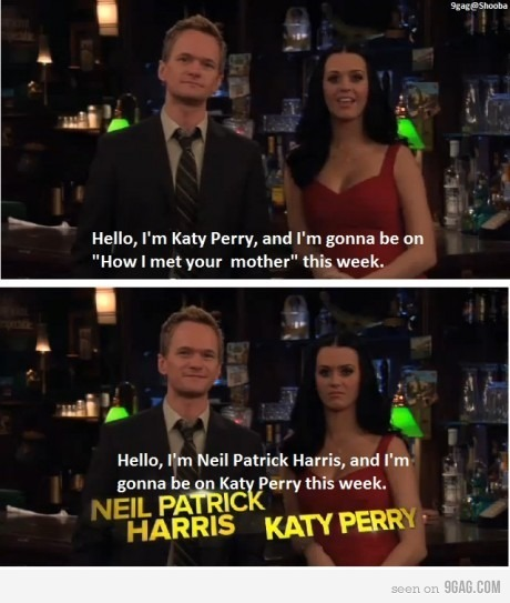 barney, heeh, how i met your mother, katy perry, legendary
