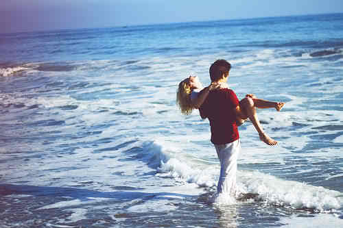 beach, boy, girl, love, sea, sweet, water