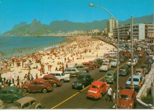 beach, brasil, brazil, car, ipanema