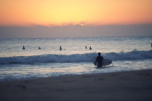 beach, photography, summer, sunrise, sunset, surf, surfing