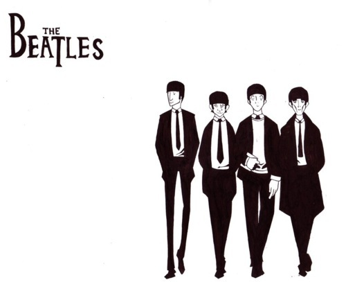beatles, caroon, george, john, paul