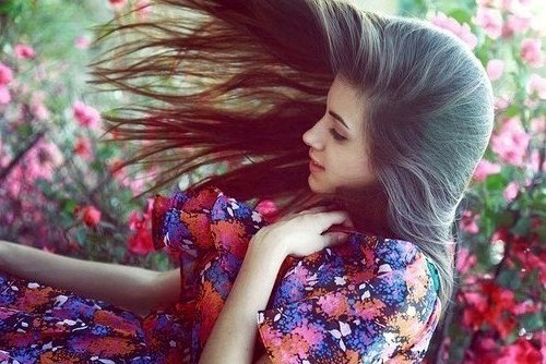beautiful, beautiful hair, floral, girl, hair