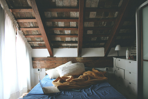 beautiful, bed, bedroom, house, vintage