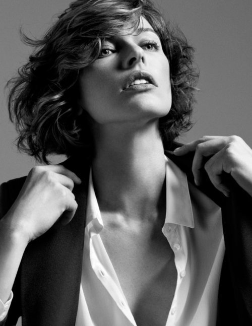 beautiful, black and white, blazer, blouse, campaign