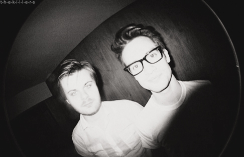 beautiful, black and white, brendon urie, panic at the disco, spencer smith