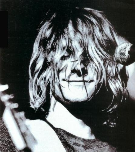 beautiful, black and white, hair, kurt, kurt cobain