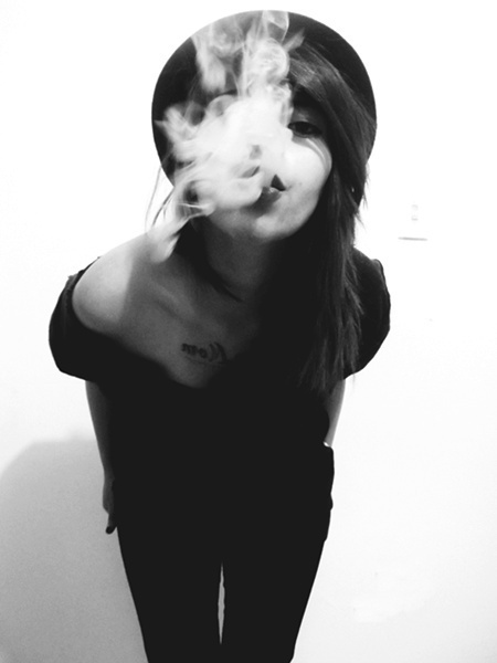 beautiful, black, brunette, fashion, girl, pretty, smoke, white