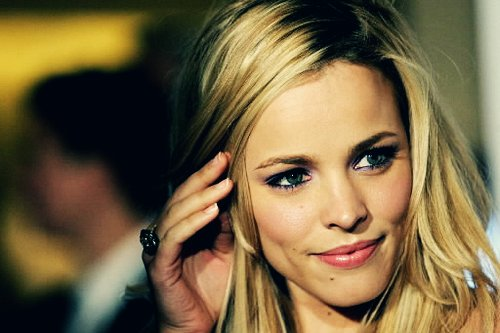 beautiful, blonde, gorgeous, hair, lips, lipstick, makeup, pink, rachel mcadams